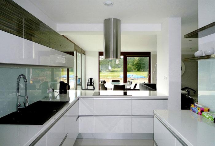 family house interior kitchen area