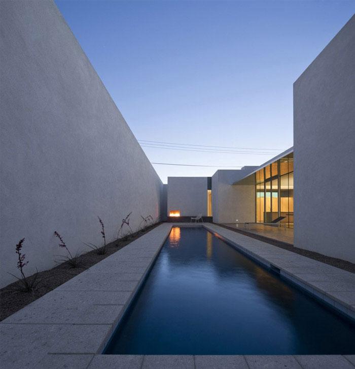 modern residence outdoor pool