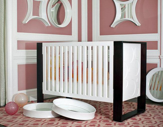 baby crib station pink