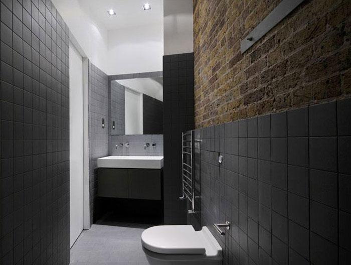 custom designed contemporary apartment bath room