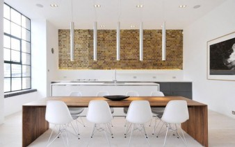 custom designed contemporary apartment dining area 338x212