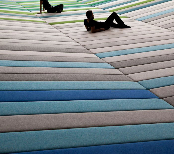 textile field installation by ronan and erwan bouroullec4