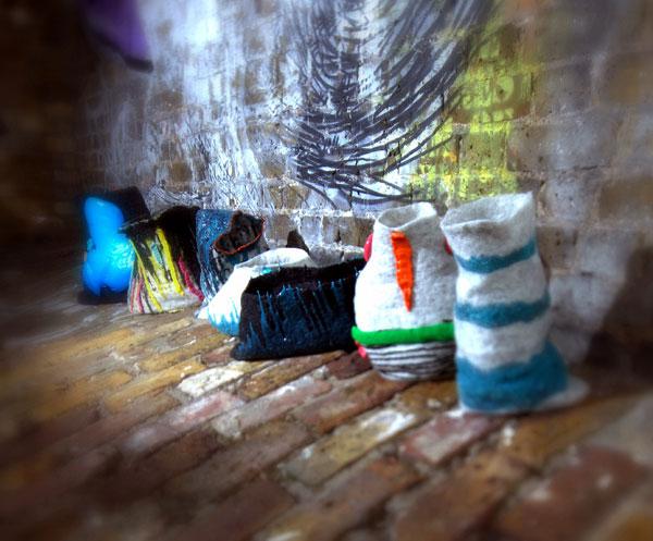 wonky pots textile