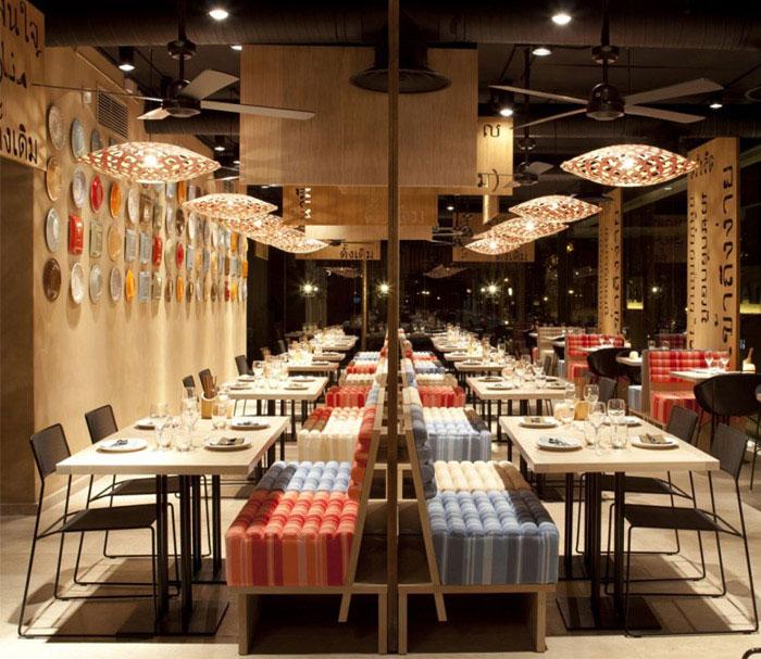 colorful decorated restaurant interior
