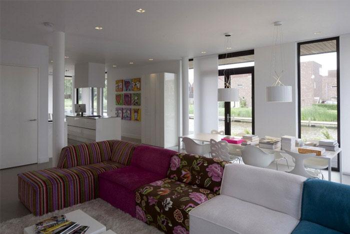 elegant villa interior design living area