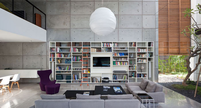 contemporary private residence living area