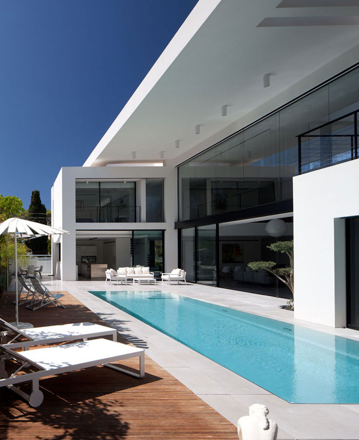 contemporary private residence pool