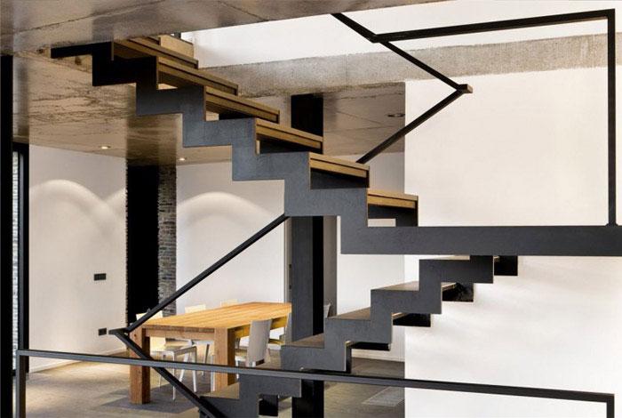 contemporary residence spain interior dining area