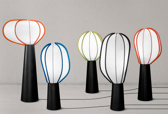 lampshades with colorful frames