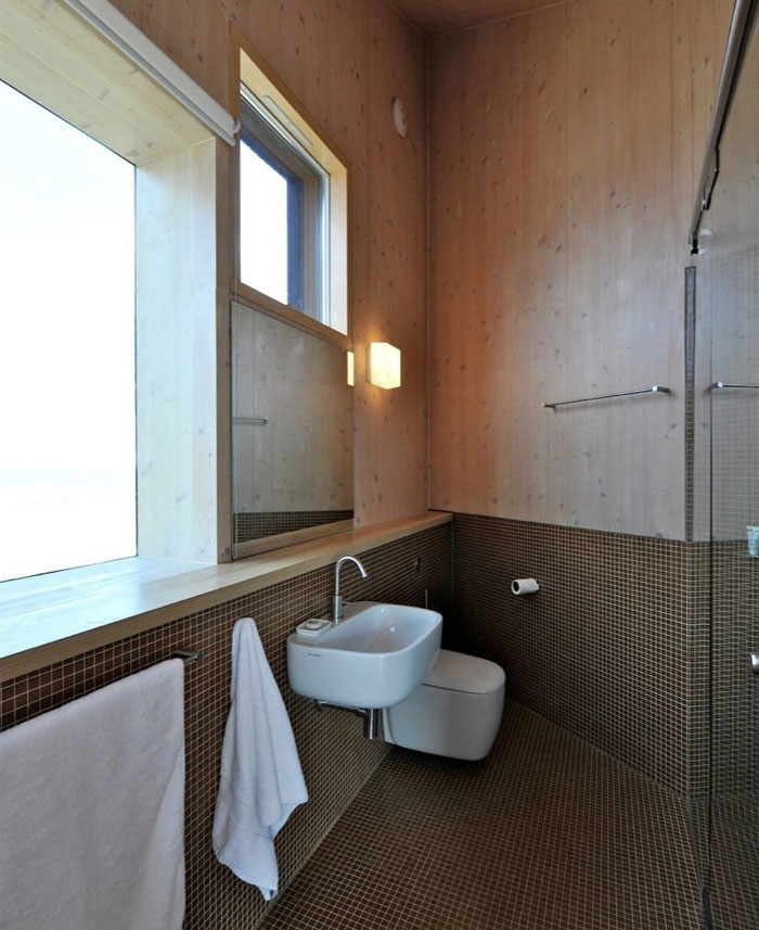 levitating house interior bathroom