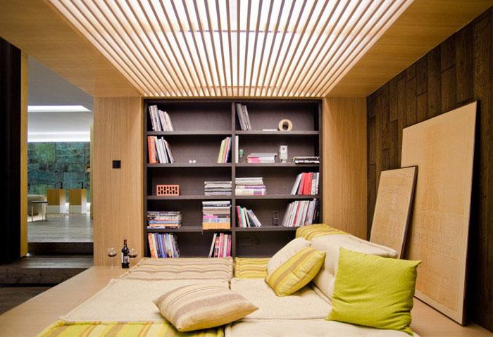 loft apartment warm concrete living area