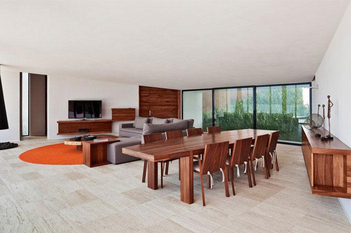 casa la roca interior living dining room