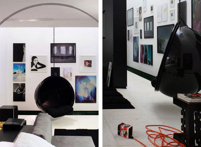contemporary brazilian house interior living area