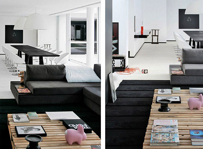 contemporary brazilian house living area decor