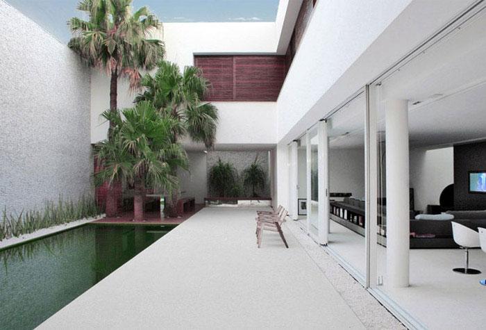 contemporary brazilian house pool