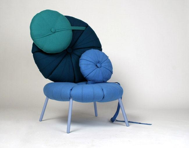cushions concept blue