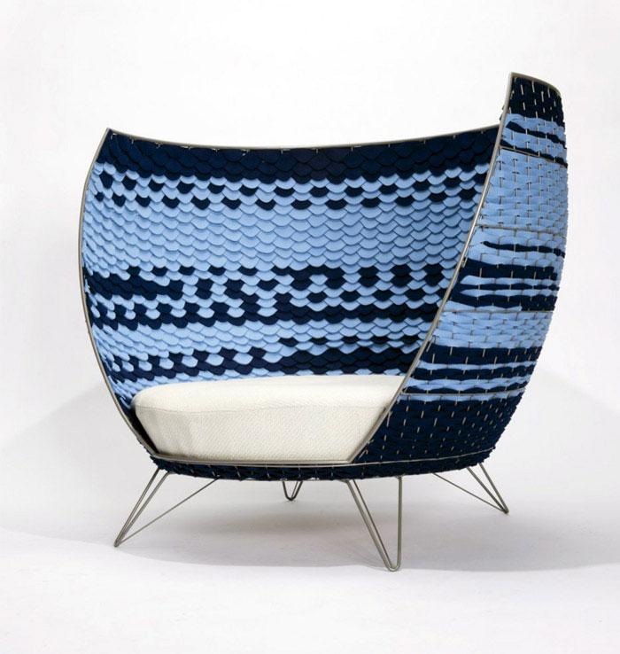 big felt chair