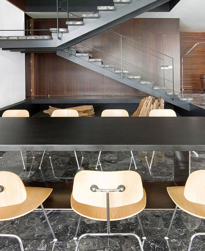 contemporary home interior dining area