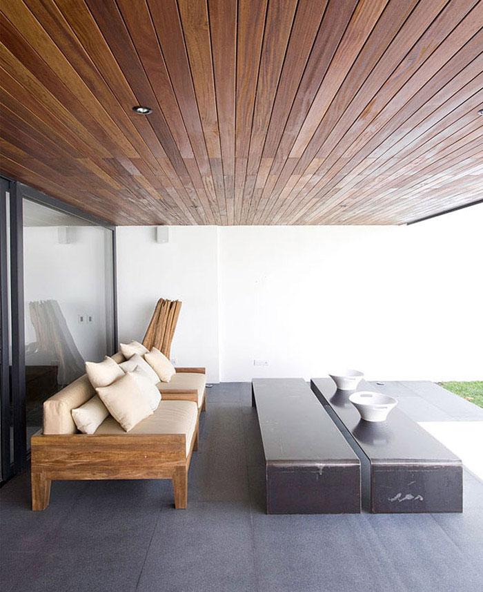 contemporary home outdoor living area