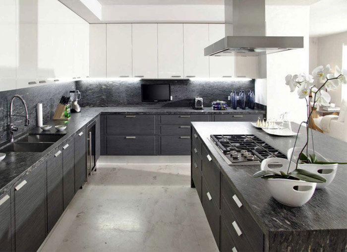 contemporary mexican style house kitchen interior