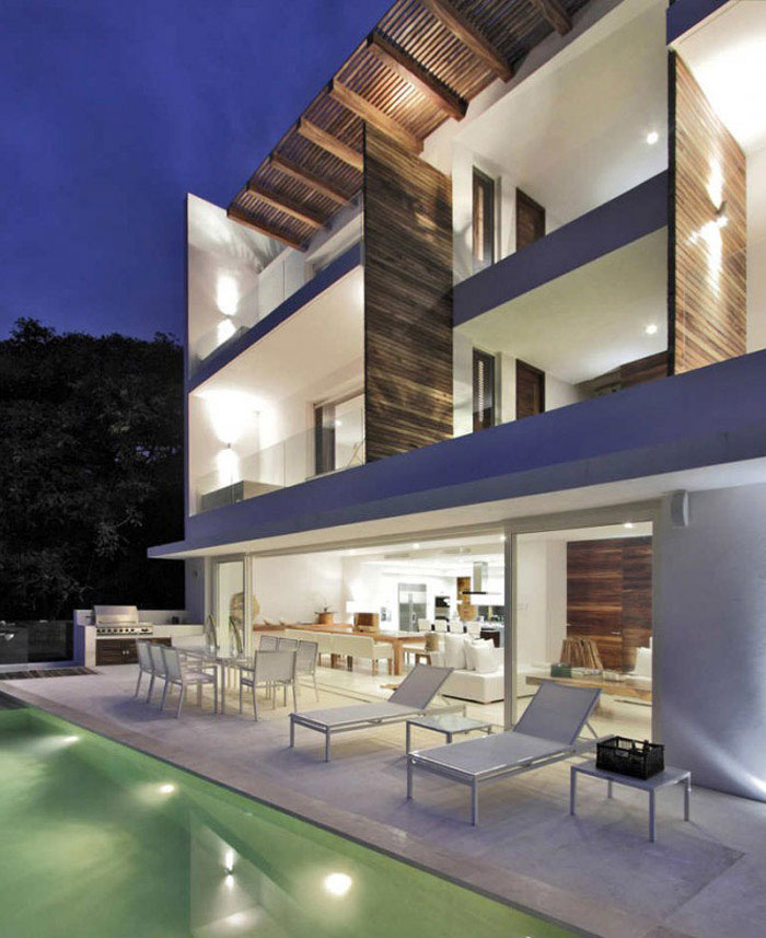 contemporary mexican style house pool