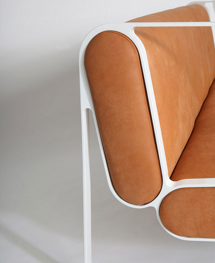 flowing form armchair
