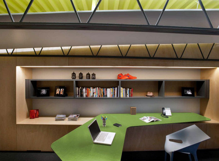 personal office space interior