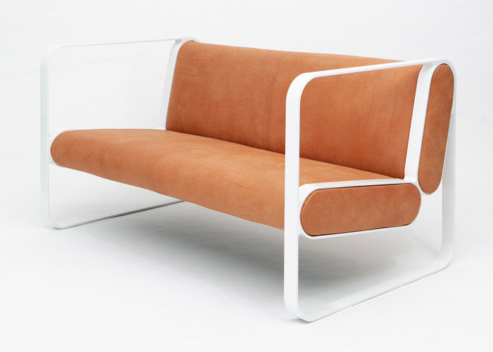 soft geometry flowing form chair