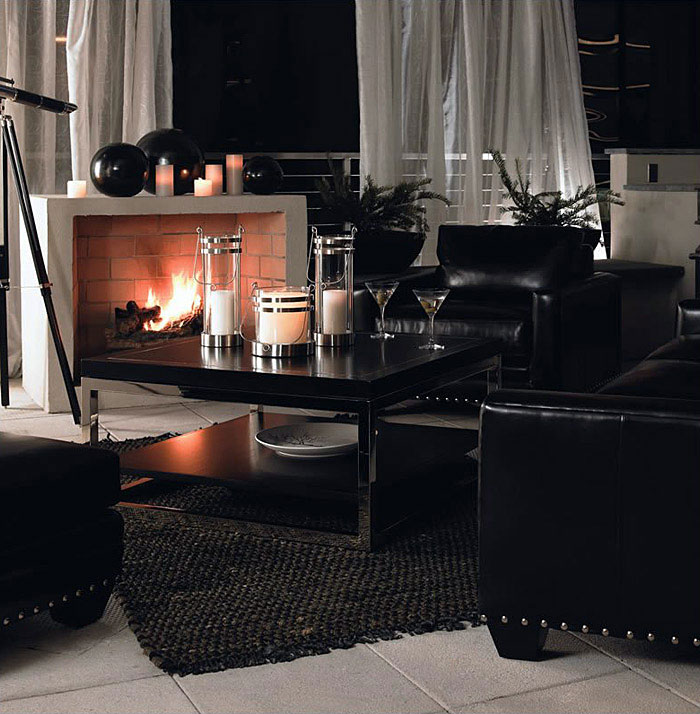 coffee table couch black
