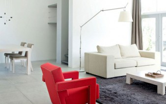 living room interior red chair 338x212