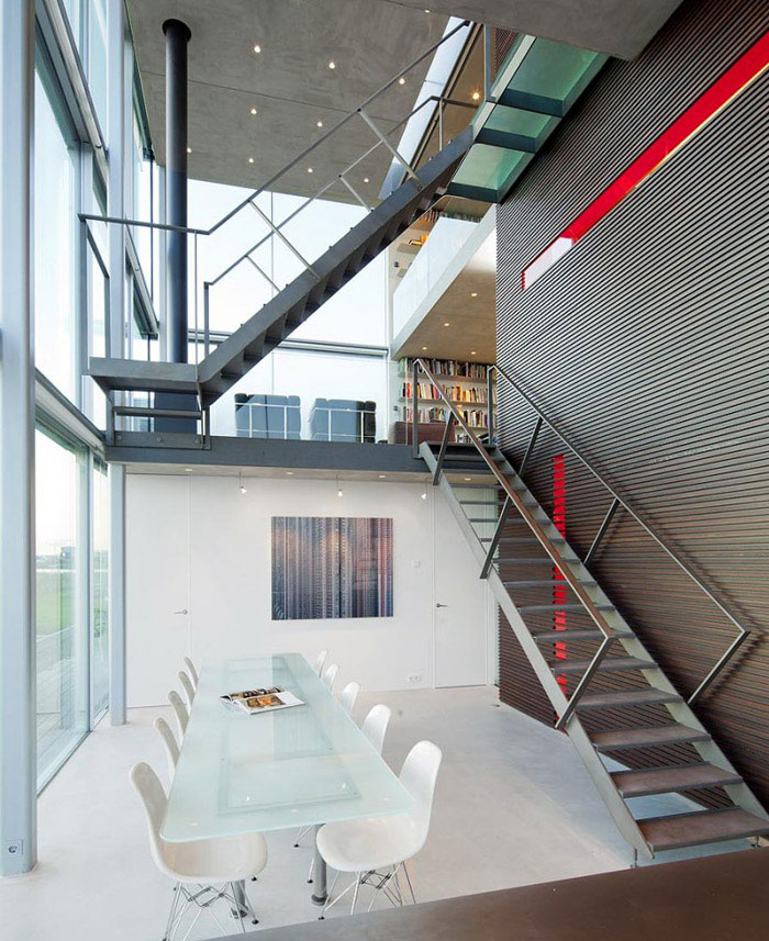 waterside house dining area interior
