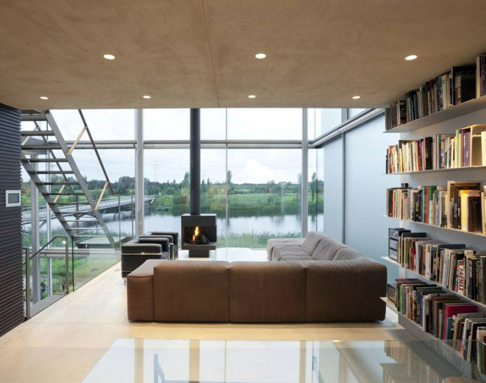 waterside house living room interior
