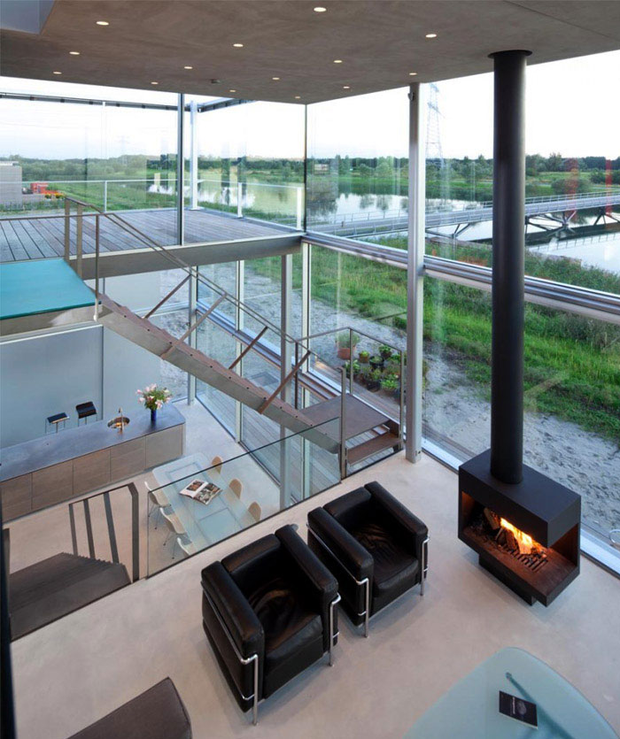 waterside house living room