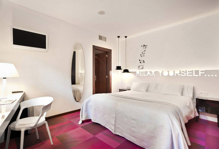 hotel bedroom interior decor