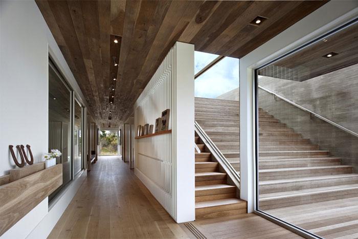 seaside house interior stair