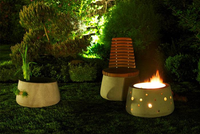 garden furniture fireplace