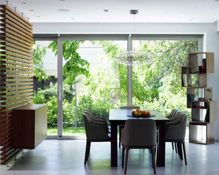 modern family house dining area