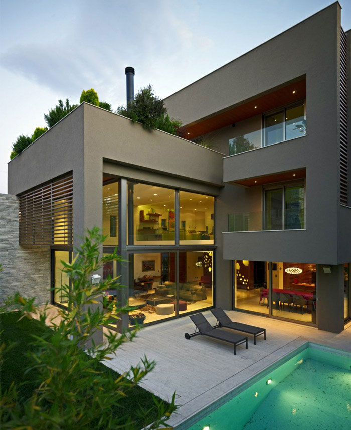 modern family house outdoor