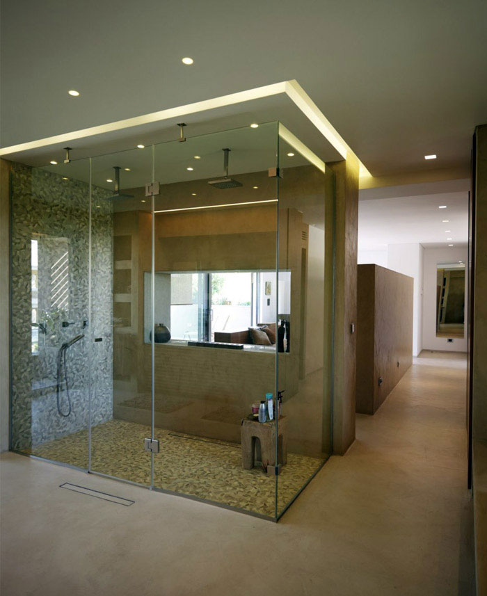 open space shower