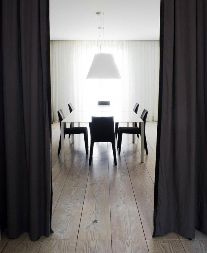 black curtains interior