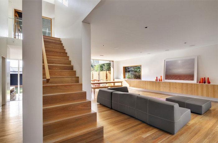 contemporary family home living room