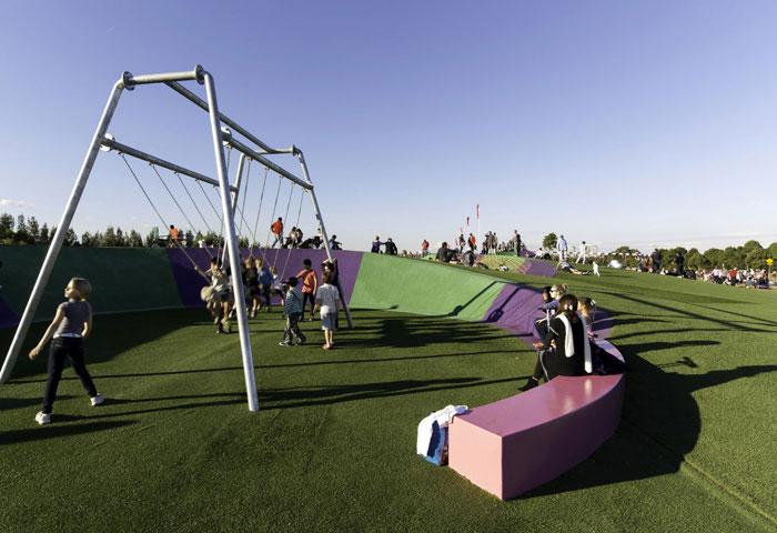 new playground landscape