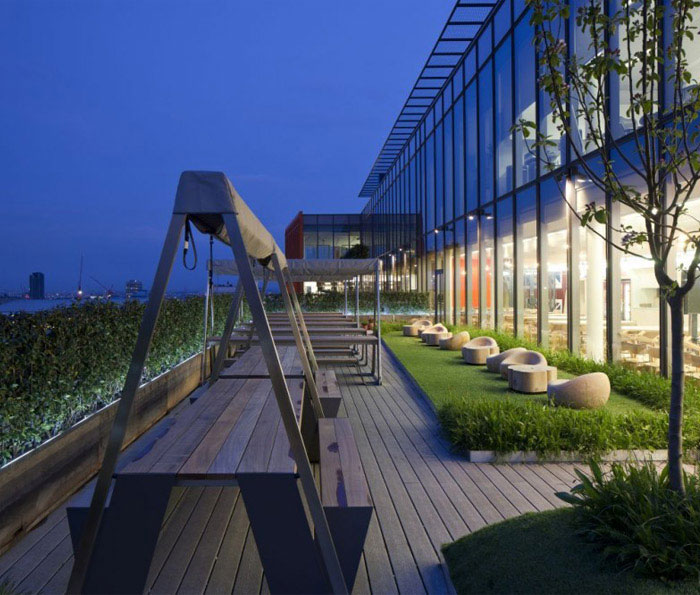 google office outdoor garden