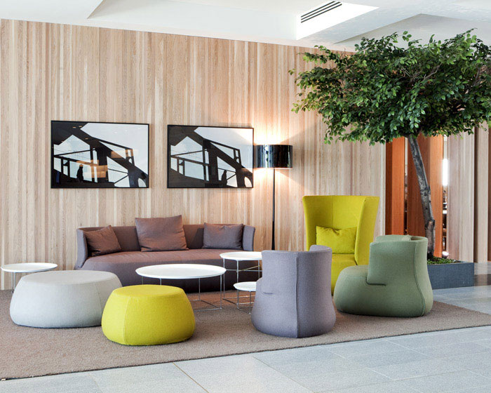 forest like lounge hotel art decor
