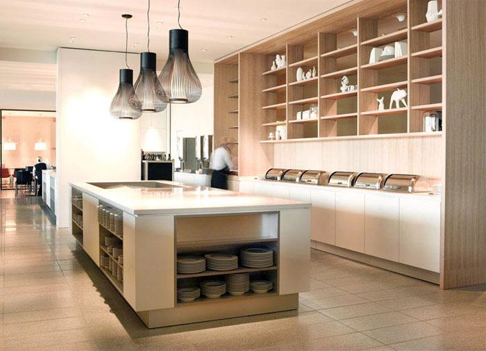 lounge hotel kitchen area