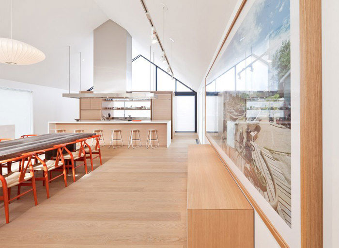 modern residential project interior dining area