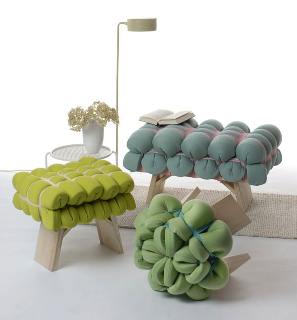 controlled drapery stools