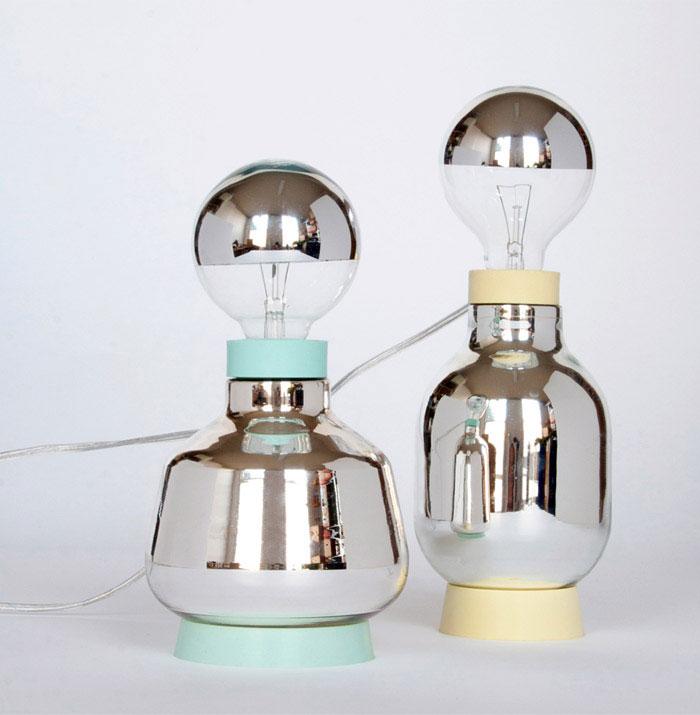 lamps inspired laboratory glassware
