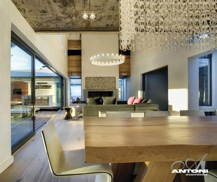 luxury residence interior dining area