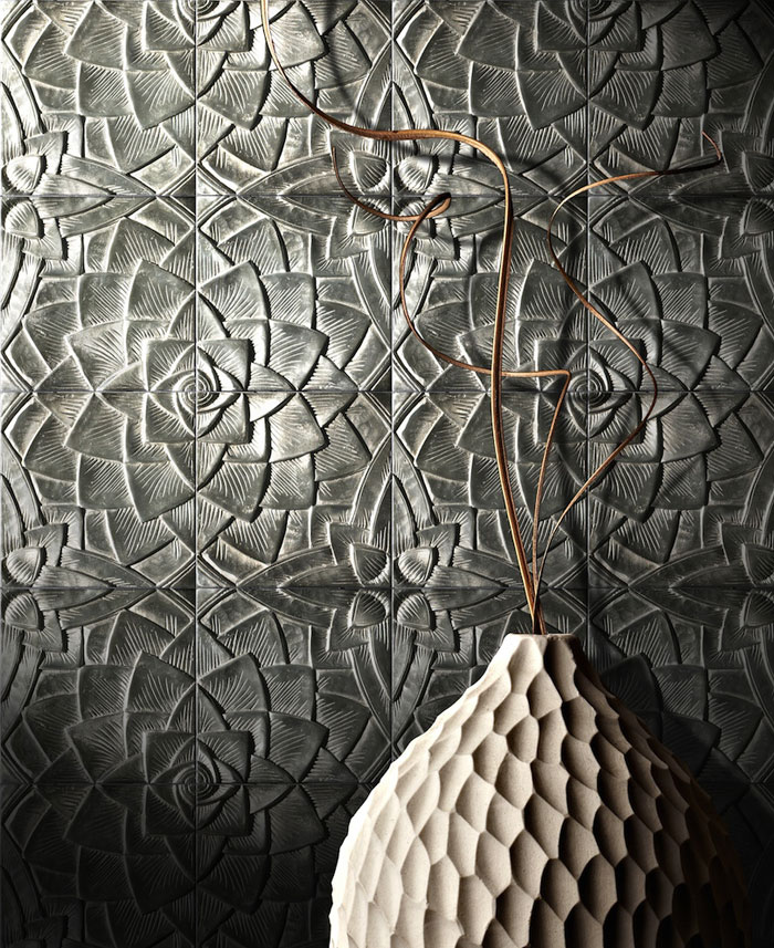 artistic wall tiles lotus